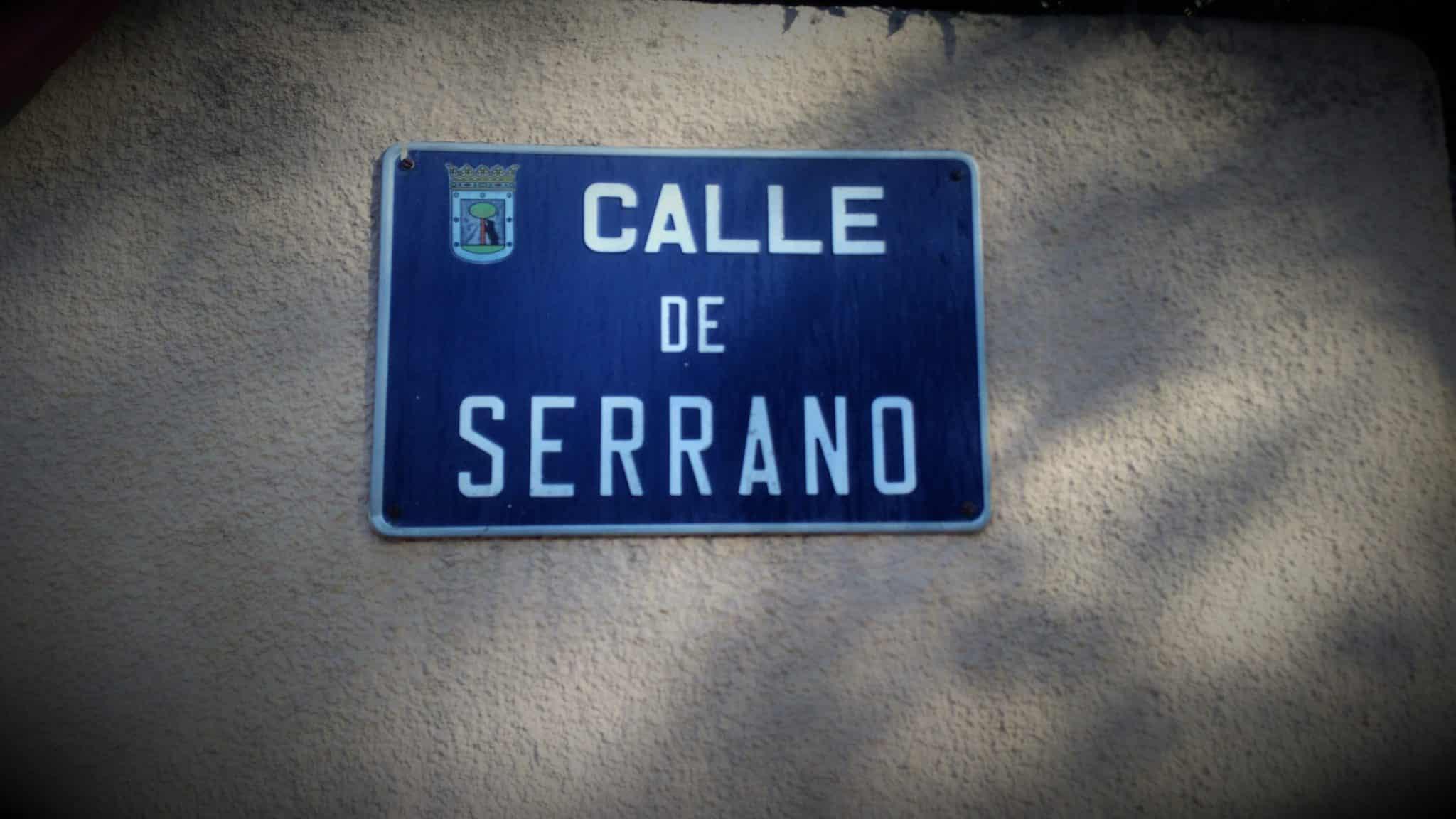 Placa de la calle Serrano (Madrid)
